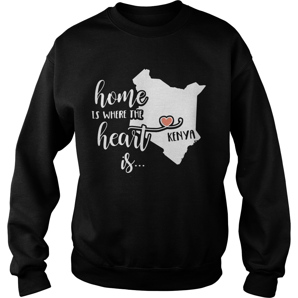 Home is where the heart is Kenya sweater