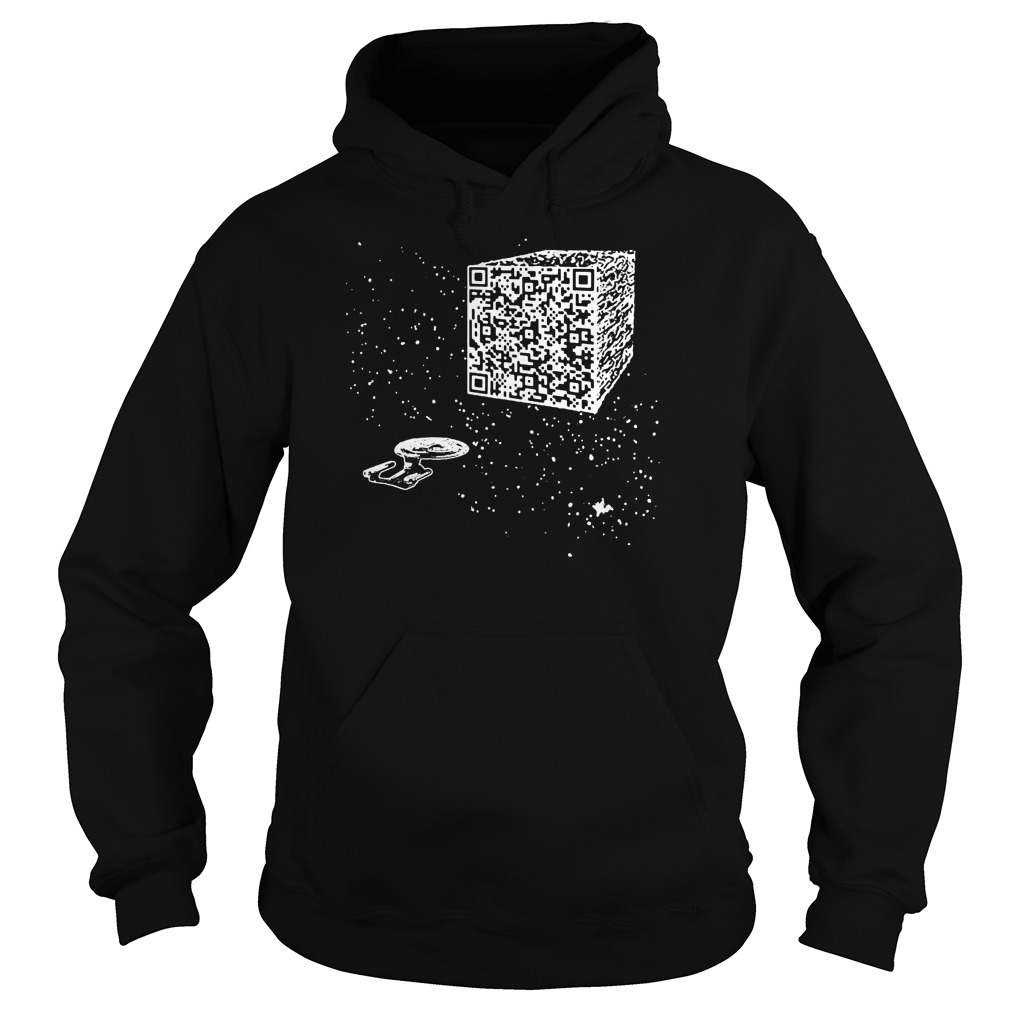 We are the borg Resistance is Futile space qr code hoodie
