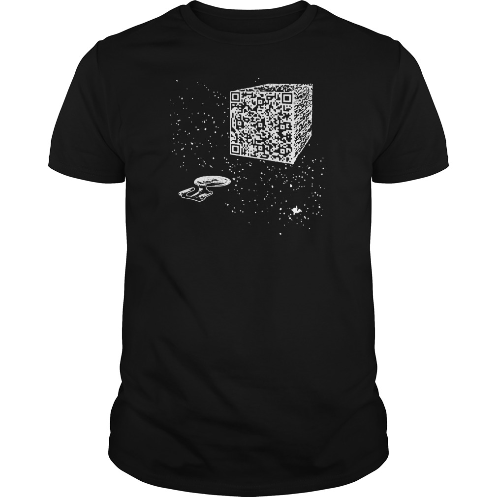 We are the borg Resistance is Futile space qr code shirt