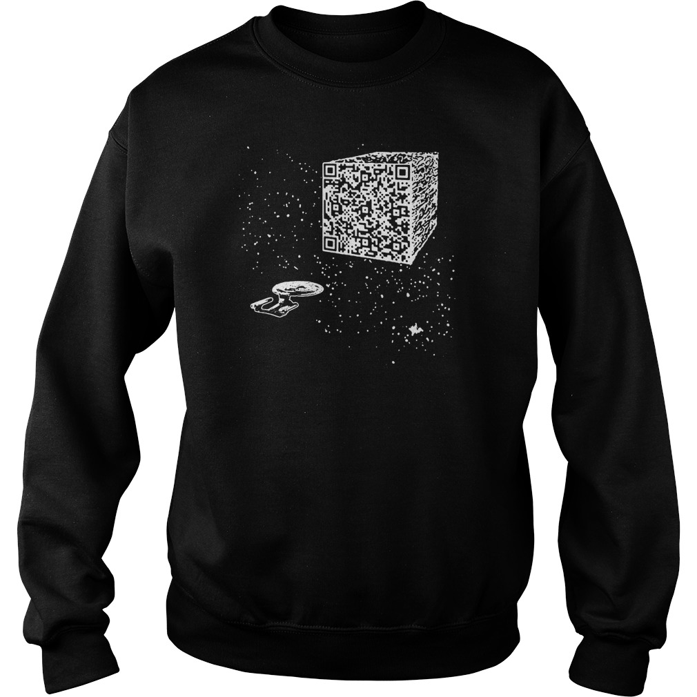 We are the borg Resistance is Futile space qr code sweater
