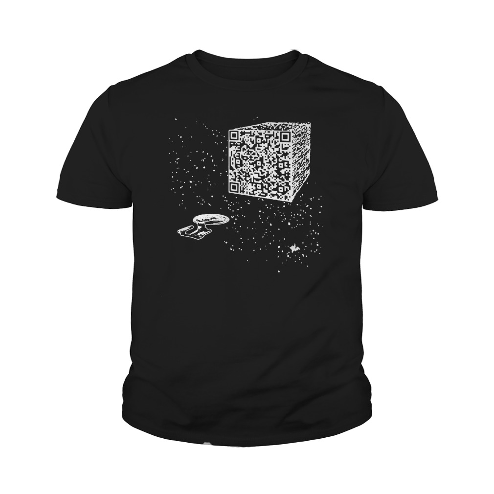 We are the borg Resistance is Futile space qr code youth tee