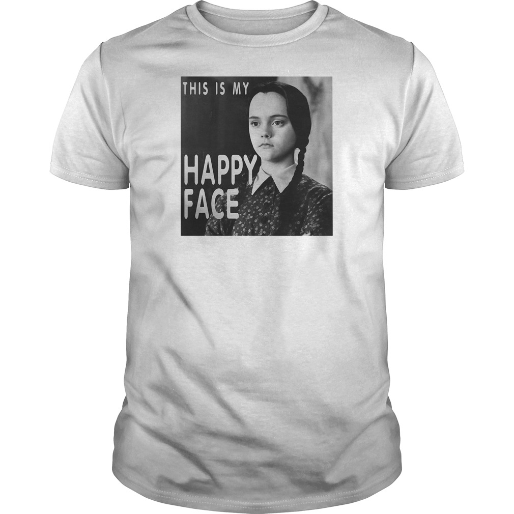 This is my happy face Wednesday Addams shirt