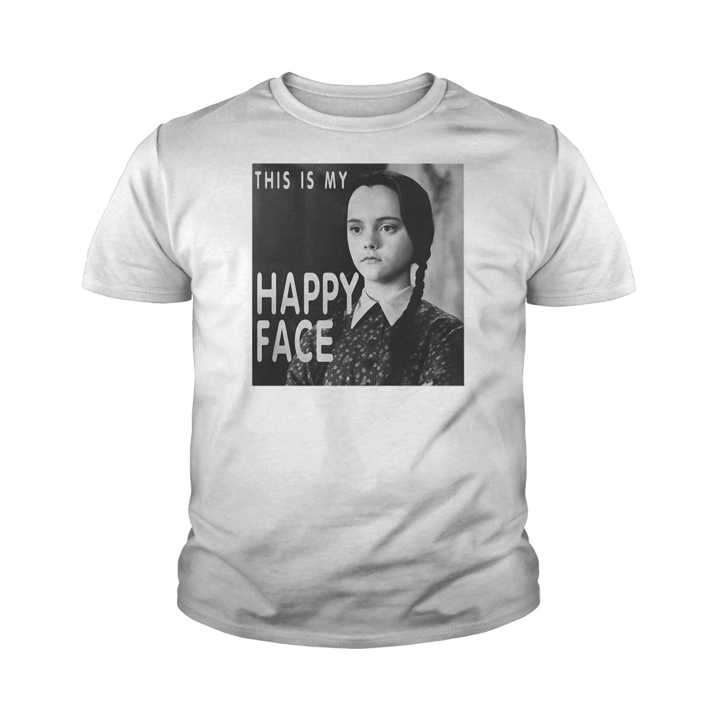 This is my happy face Wednesday Addams youth tee
