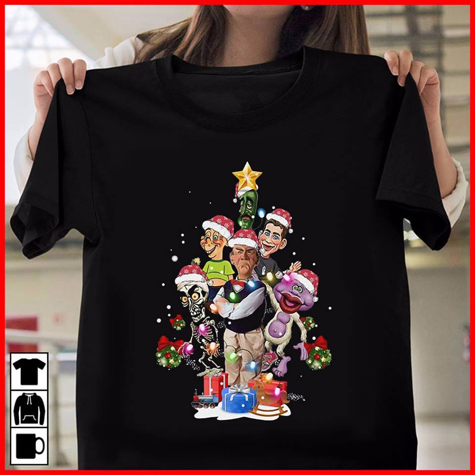 Official Jeff Dunham christmas tree shirt, hoodie, tank top and sweater
