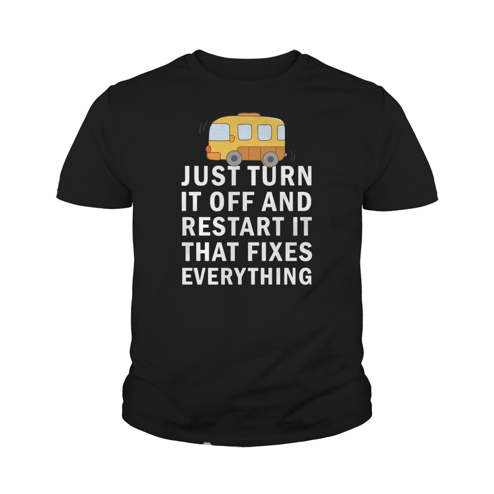 Just turn it off and restart it that fixes everything youth tee