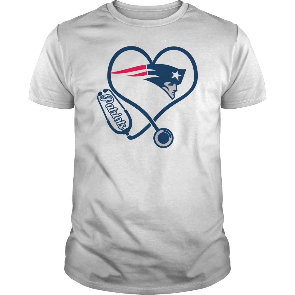 Nurse love New England Patriots guys tee