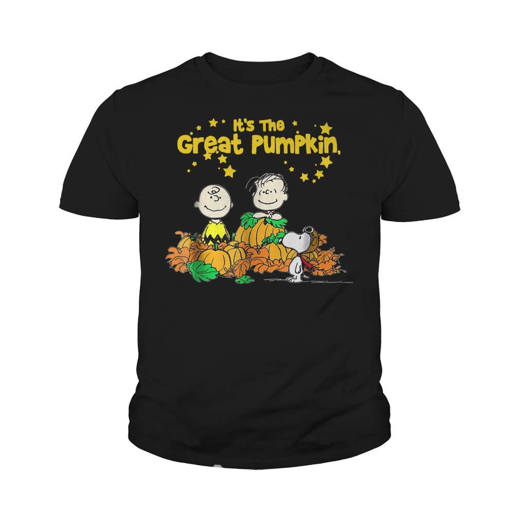 snoopy and charlie brown it's the great pumpkin peanuts halloween shirt